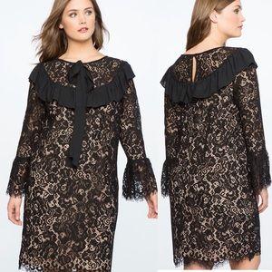 ELOQUII• lace sheath dress